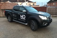 Matt Black Navara & SIgn Written 1