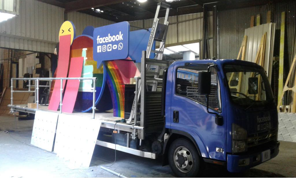 LGBT Facebook Truck Wrap 1