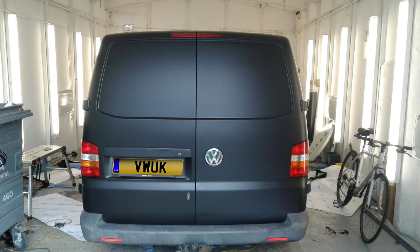 Matt Black VW Transporter 1