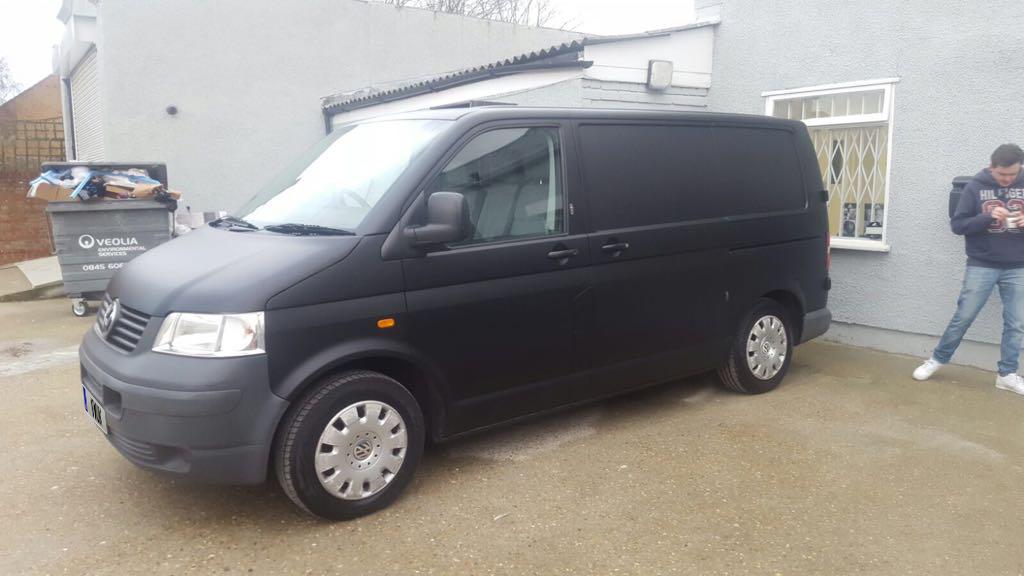 Matt Black VW Transporter 2