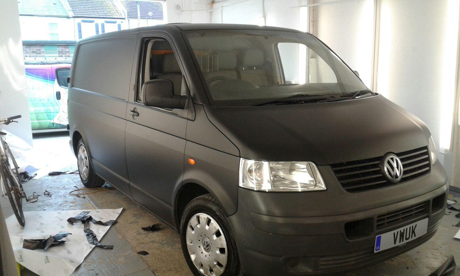 Matt Black VW Transporter